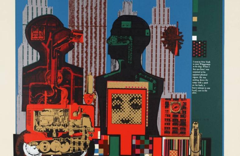 Wittgenstein in New York 1964 by Sir Eduardo Paolozzi 1924-2005